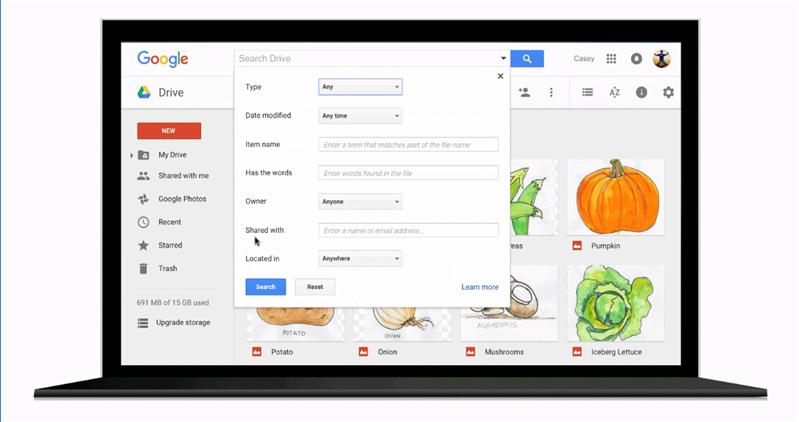 Google Drive Recherche