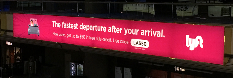 Las Vegas Aéroport Lyft Promotion