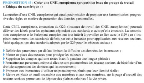 UMP CNIL européenne