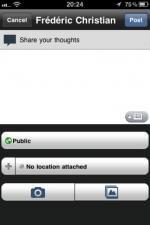 Application Google+ iPhone