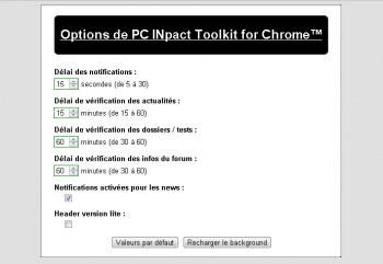 Extension Chrome PC INpact Toolkit