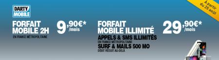 Darty mobile nouveaux forfaits