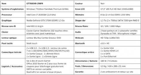 MSI portable GT780DXR