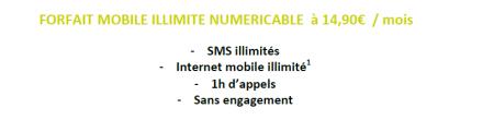 Numéricable forfait mobile