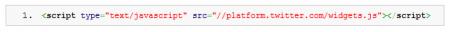 tweeter bouton HTTPS