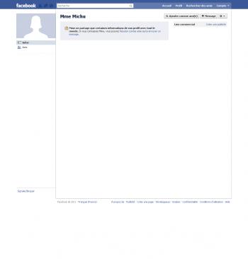 Facebook Profil Mme Michu