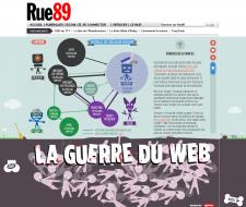 Rue 89 Infographie Guerre du Web