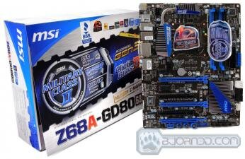 MSI Z68A GD80 (G3) Bjorn3D