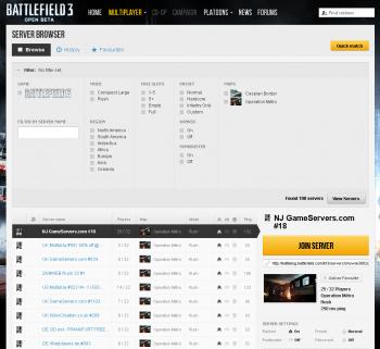 Battlefield 3 Open Beta Servers