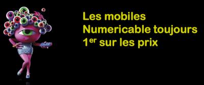 Numericable document comparatif forfaits mobiles