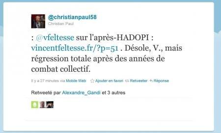 Christian Paul Hadopi François Hollande