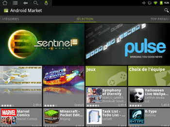 Touchpad Android Market