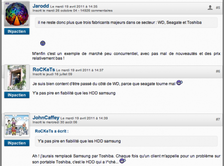 commentaires pci v5