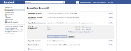 Facebook amis certifiés mot de passe applications