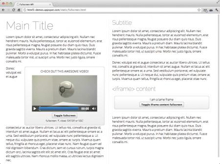 api fullscreen html5