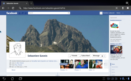 Timeline Facebook Application Android 3.2.1