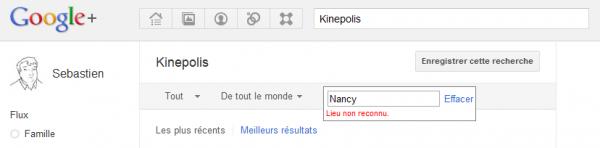Google+ recherche locale