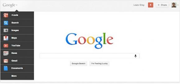 Google page d'accueil nouvelle barre