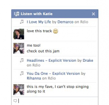 Facebook musique écouter avec