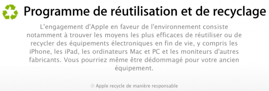 Apple recyclage