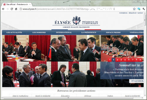 Elysee anonymous we are legion!