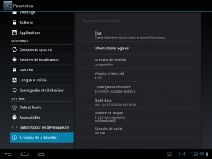 Android 4.0.3 CM9 Alpha Touchpad HP
