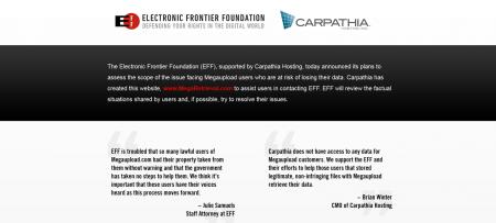megaretrieval.com EFF carpathia hosting