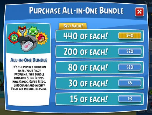 Angry Birds Bonus facebook