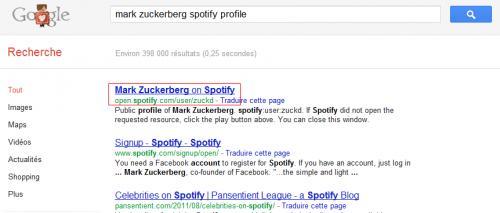 Spotify Profile Google