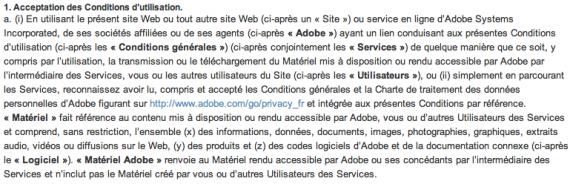 Adobe CGU