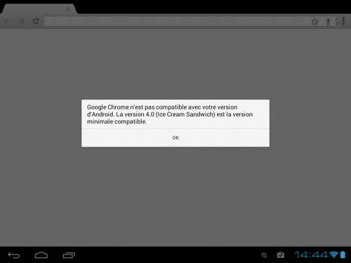 TouchPad Android 4.0 google chrome