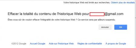 google historique vie privée