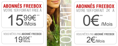 Free Mobile forfait clients freebox