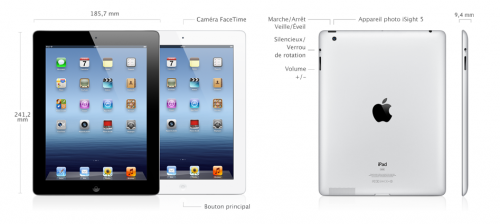 caracteristiques techniques iPad 3