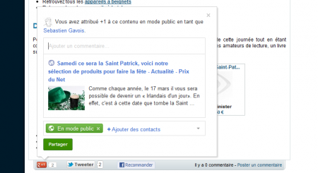 Google+ +1