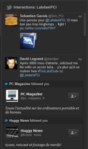 tweetdeck interaction