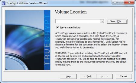 Truecrypt fichier unique