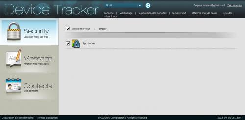 Asus Device tracker app locker
