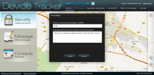 Asus device tracker blocage