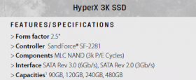 kingston SSD HyperX 3K