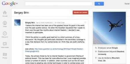 sergey brin google+