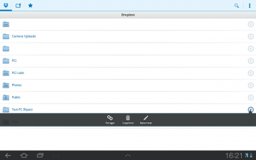 Dropbox android partage