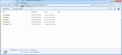 Otixo WebDAV