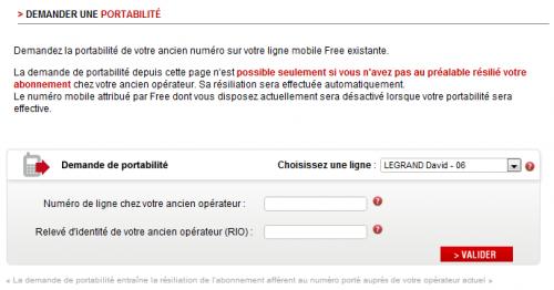 Free mobile portabilité