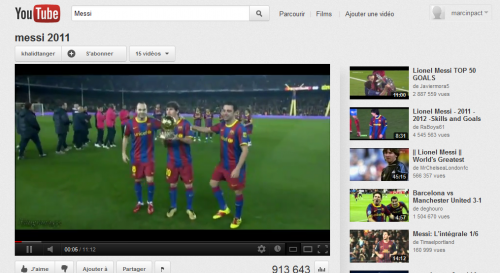Youtube Video Messi