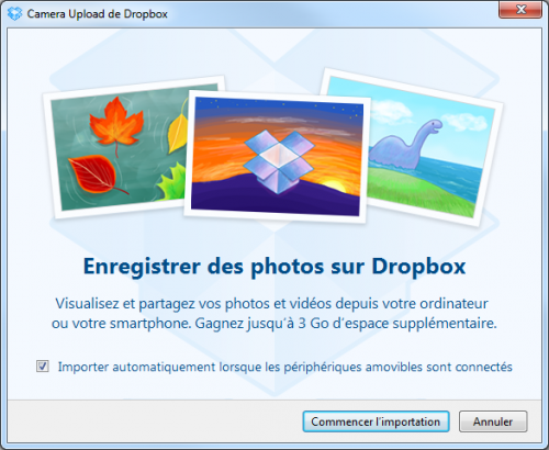 dropbox upload automatique windows os X