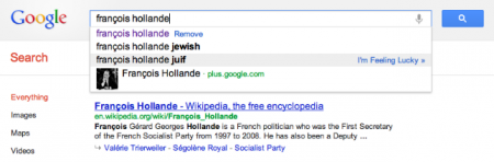 françois hollande google suggest