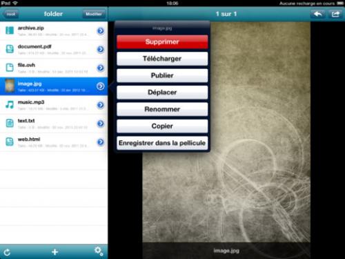 Hubic iPad