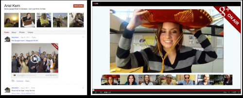 google+ on air video bulle