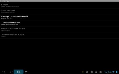 Evernote Premium Android